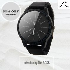 The BOSS is the biggest watch we offer. If you love big watches you won't want to miss out on this deal.  Dial Diameter:48 mm  Gender: MenStyle: Fashion & CasualMovement: QuartzCase Material: Stainless SteelBand Length: 20.3 cmClasp Type: BuckleFeature: Auto DateDial Window Material Type: GlassCase Shape: RoundBand Material Type: SiliconeItem Type: Quartz Wristwatches *Due to high order volume please allow 2 - 4 weeks for shipping