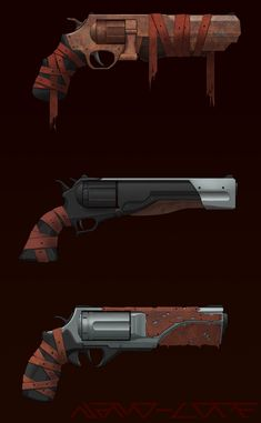 Hell Revolver Concepts Commission by Nano-Core on DeviantArt Steampunk Weapons, Sci Fi Weapons, Weapon Concept Art, Fantasy Weapons, Weapons Guns, Guns And Ammo, Simbolos Star Wars, Armas Ninja, Future Weapons