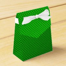 green,small abstract colored pattern favor box
