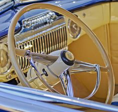 Cadillac Images by Jill Reger - Images of Cadillacs - 1947 Cadillac 62 Steering Wheel