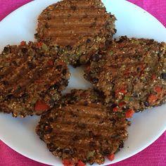 Pink-Vegan: Black Bean Quinoa Veggie Burgers (DF, GF)