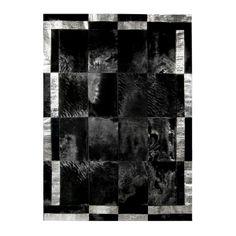 Hand-stitched Patchwork Cowhide Rug Black - Black Cowhide Rug Patchwork with Crocodile Print Trim X 6 Feet) Cow Rug, Cow Hide Rug, Fur Blanket, Blanket Stitch, Double Frame, Cow Skin, Sheepskin Rug, Patchwork Rugs, Kids Furniture
