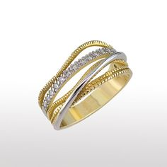 Vintage Engagement Ring  14K White And Gold door gispandiamonds, $850.00