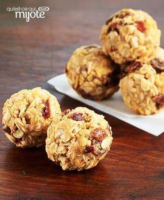 Bouchées croquantes au beurre d'arachide et aux dattes #recette