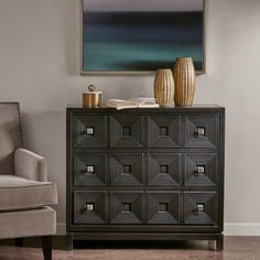 """Madison Park Celest Brown Accent Chest with 3 Drawers (37.5W x 14""""D x 34""""H - Brown)"""