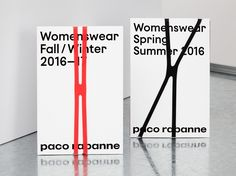 Logo, logotype, print, website and art direction by British graphic design studio Zak Group for French fashion label Paco Rabanne. Paco Rabanne, Identity Design, Brochure Design, Brand Identity, Label Design, Print Design, Logo Design, Design Editorial, Buch Design