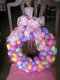 I made this wreath for Easter 2012