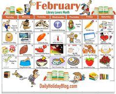 february holidays calendar