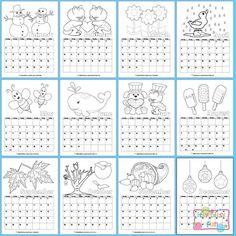 Printable Calendar for Kids 2014 & 2015 - Itsy Bitsy Fun