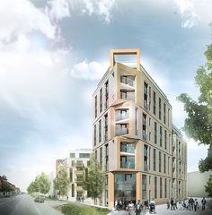 78 new flats in the centre of Odense by C.F. Møller Architects.