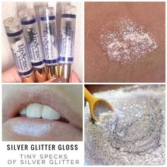 "Silver Glitter gloss has a glossy finish with tiny specks of silver glitter.  It goes great over any lip color!  Love it!  **If you can't find it on the website check out the ""in-stock"" photo album @ www.FB.com/TanyasLipService.  It's probably available there!"