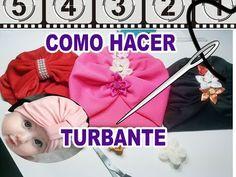 Clara e Sofia Baby Baby Turban, Turban Hat, Turban Headbands, Baby Headbands, How To Make Turban, Baby Sun Hat, Diy Tops, Baby Sewing, Head Wraps