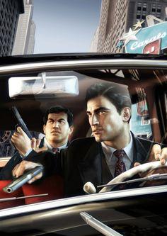 Mafia Joe and Vito are a great team. Mafia Video Game, Mafia Game, Mafia 2, Mafia Gangster, Cthulhu, Playstation, Grand Theft Auto Games, Videos, Background Vintage