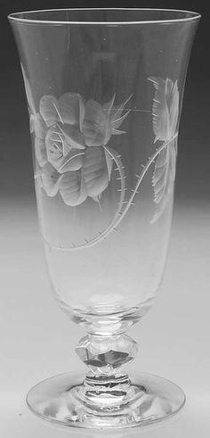 Heisey DOLLY MADISON ROSE Iced Tea Glass 216034   Pottery & Glass, Glass, Glassware   eBay!