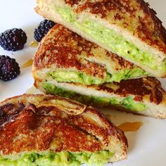 Avocado banana french toast.  I love taking a traditional childhood favorite a notch higher while infusing a bit of the western world.
