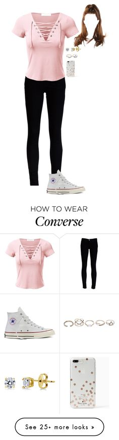 """""""5.23.17"""" by tpbradley3 on Polyvore featuring J Brand, Converse, BERRICLE, GUESS and Kate Spade"""