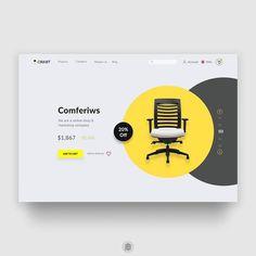 Hafif yumuşatalım tonu #dribbble by Ahsan Raz #designer #web #site #ui #ux #color #furniture #font