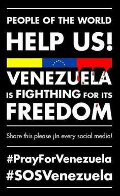 SOSvenezuela. Estudiantes asesinados, torturados y desaparecidos por protestar contra un gobierno corrupto, inepto y violento. Los medios optan por la autocensura y la comunidad internacional ha decidido no pronunciarse en contra de este atropello a los derechos humanos