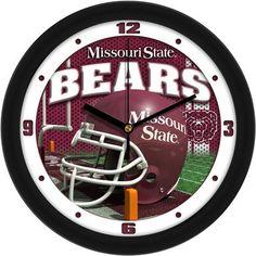 NCAA Missouri State Bears Football Helmet Wall Clock