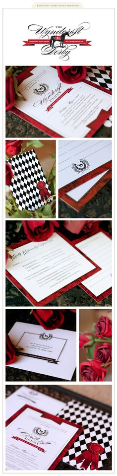 Kentucky Derby-inspired branding for the Gala of the year. Out of the gates first is the invitation, other coordinating event items and signage to follow.