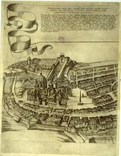 Antonio Tempesta's View of Rome, 1593 -- this portion of the 12-part map shows St. Peter's