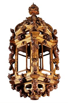 Carved and gilded wooden lantern, probably Venice, Italy, 1580-1600. Museum no. 7225-1860