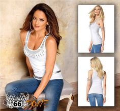 Bejeweled Women's Tank Top - Plus Sizes - Route 66 Zone Womens Motorcycle Fashion, Motorcycle Style, Motorcycle Gear, Biker Gear, Biker Chick, Plus Size, Route 66, Tank Tops, Fabric