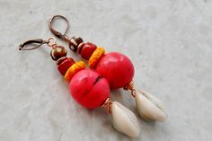 African EarringsTagua Earrings African Jewelry by ZenCustomJewelry