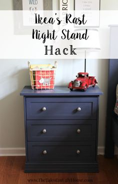 This tutorial has been a long time coming. I have wanted to do this Ikea's Rast hack for some time now. Weeks ago I finally made the leap or what I thought was going to be the leap, Ikea was completely out of the Rast 3 drawer chest. I was a little more than bummed. Ikea's not a terribly long drive but it's not around the corner from me either. After my disappointment wore off and they restocked, a week later I got to work!  Here is what the Rast 3 drawer chest looks like after you assemble…