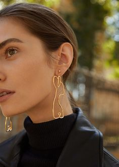 Silhouette earrings | MANGO