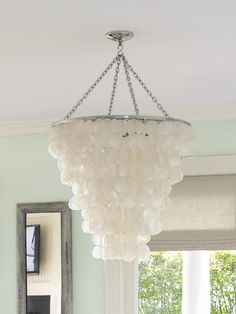 Decoration For Beach House Lighting Fixtures Beach House Lighting, Coastal Lighting, Beach House Decor, Beach Chic Decor, Capiz Chandelier, Chandeliers, Beach Chandelier, Chandelier Lighting, Coastal Cottage