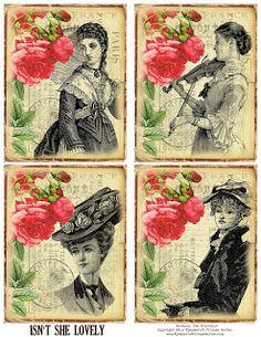 Ephemera's Vintage Garden: Free Printable - Lovely Journaling Cards