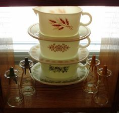 The Way I Sew It: Pyrex Gravy Boats and Salt and Peppers