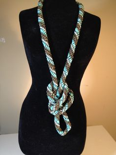 Russian Rope Necklace with turquoise & bronze beads.  Selling for $50 on kijiji