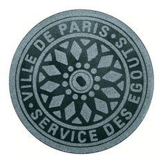 Tapis Design Bouche d'égout Paris