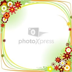 ai borders and frames | frame border flower stock vector | PhotoXpress
