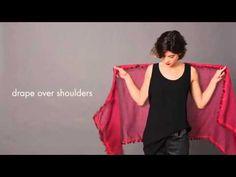 Как завязать шарф зимой. Часть 1 - YouTube