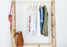 A Pair & A Spare   DIY Ladder Wardrobe