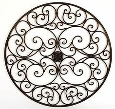 Old Window Frame From Salvage And Wrought Iron Decor From