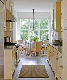 Incorporating a breakfast area into your galley kitchen design can make the space more inviting to friends and family. By locating the cabinets near the ...