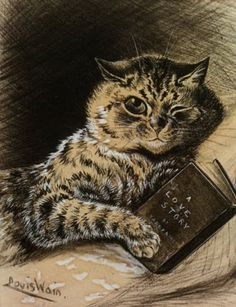 Lois Wain.... (approx 1900) really knew his cats.