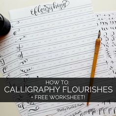 Once I got some basics down, watched a few tutorials from the wonderful Pieces Calligraphy and Postman's Knock, I became intrigued by the idea of flourishing.  I've been dreamily staring at differe...