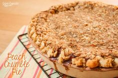 Hello, In Katrina's Kitchen readers!  I'm so happy to be here today sharing with you this recipe for Peach Crumble Pie while Katrina is at home resting. Let me begin by introducing myself! I'm Betsy of JavaCupcake.com – a blog all about recipes for the inspired home baker! I currently live in Bavaria, Germany, with … Recipe For Peach Crumble, Peach Crumble Pie, Crumble Topping, Fall Treats, Bavaria Germany, Pie Plate, Deep Dish, Sugar And Spice, Baking