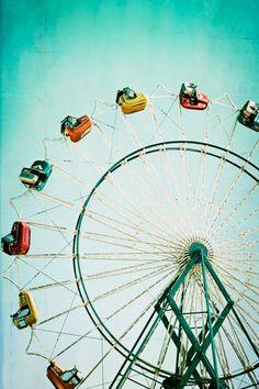 Carnival Photography Ferris Wheel 16x24 Fine Art by kimfearheiley, $75.00