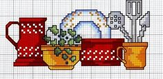 cozinha graficos ponto cruz, gráficos de cocina punto de cruz, kitchen graphics cross stitch, graphiques de cuisine point de croix, Grafica cucina attraversano punto, γραφικά κουζίνα σταυροβελονιά, кухня графика вышивки крестом