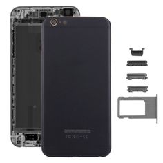 [$20.14] iPartsBuy 5 in 1 for iPhone 6s Plus (Back Cover + Card Tray + Volume Control Key + Power Button + Mute Switch Vibrator Key) Full Assembly Housing Cover(Black)