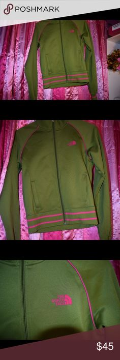 North face jacket Green and pink north face, not been worn Jackets & Coats