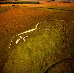 Uffington White Horse, Oxfordshire.  The oldest of the earthwork horses, dating back some 3000 years to the late Bronze Age.