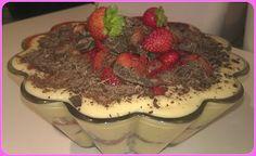 No gluten! Yes vegan!: Crema al limone con fragole e cioccolato fondente
