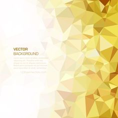 Polygonal Golden Background Clip Art